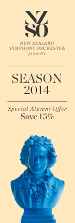 15% alumni discount at the NZSO
