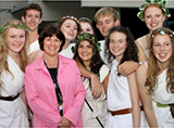 Vice-Chancellor with Toga Party attendees