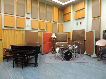 A recording room in the Albany Street Studios